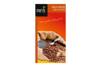 mesh Stick Gold Kaffee